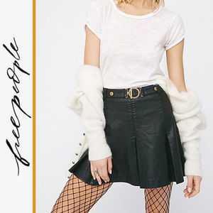 Free People | 'But I Love It' Vegan Leather Skirt